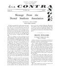 Contrangle - Vol. 3, No. 1 by Dental Students Association
