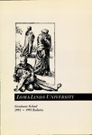 1991 - 1993 Bulletin by Loma Linda University