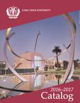 2016 - 2017 University Catalog
