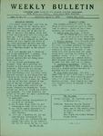 Weekly Bulletin - Vol. 1, No. 19
