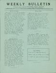 Weekly Bulletin - Vol. 1, No. 22